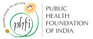 PHFI logo, which shows its motto, knowledge to action forming the bridge between a bud and a flower (https://commons.wikimedia.org/wiki/File:Phfi.png). Licensed into public domain by author/copyright holder.