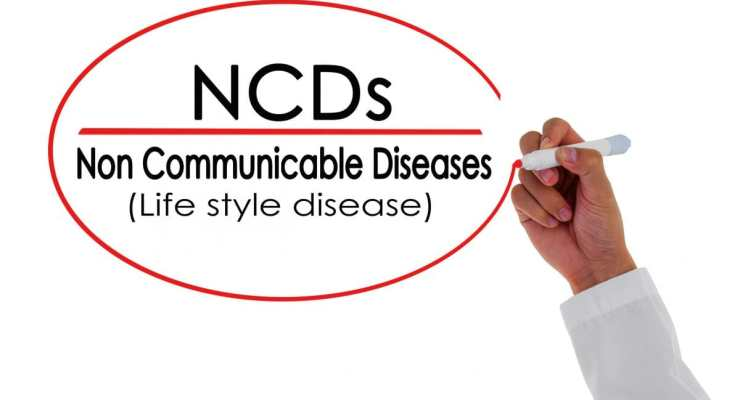 NCDs top cause of death concept. chronic disease. Copyright: jes2ufoto / 123RF Stock Photo. NCD rate illustration.