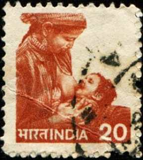 11574025 - india - circa 1984: a stamp printed in india shows woman breastfeeding a baby, circa 1984, Copyright: <a href='https://www.123rf.com/profile_igorgolovniov'>igorgolovniov / 123RF Stock Photo</a>