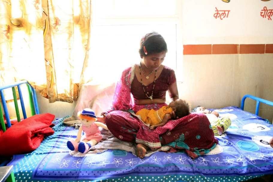 Infant and maternal health concept.