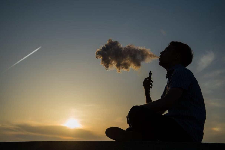 E-cigarette industry, vaping concept.