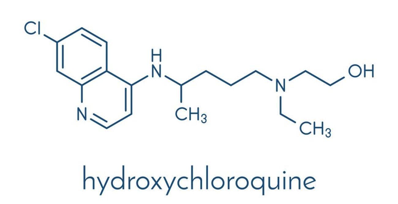 Hydroxychloroquine, HCQ illustration.
