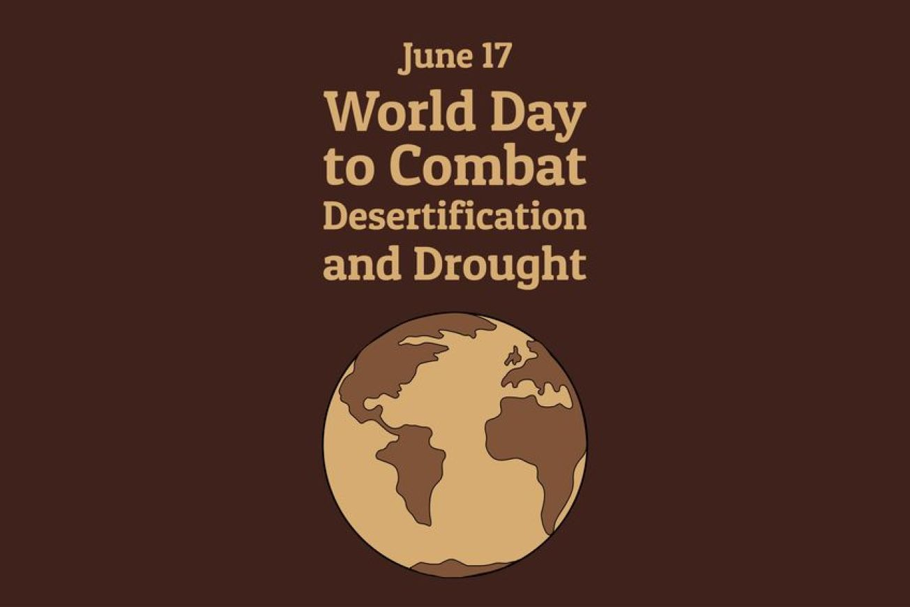 The World Day to Combat Desertification and Drought. June 17. Holiday concept. Template for background, banner, card, poster with text inscription. Vector EPS10 illustration