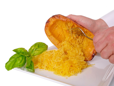 spaghetti squash what shaun T from insanity eats by Healthista