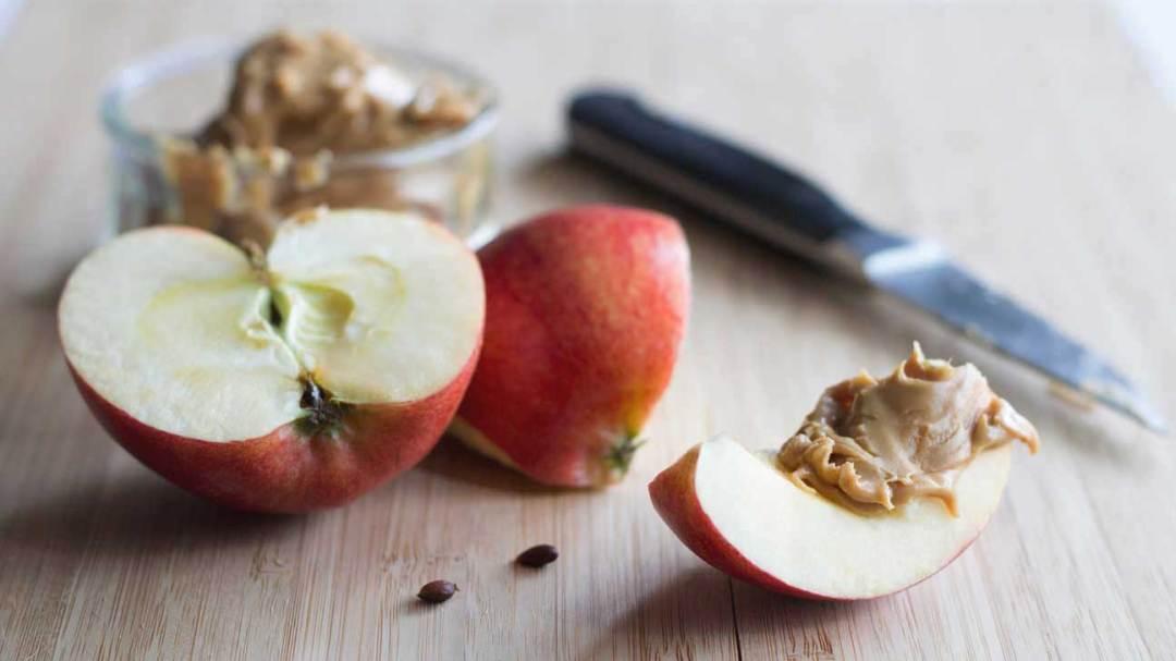 Manteiga de maçã e amendoim