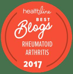 rheumatoid arthritis best blogs badge