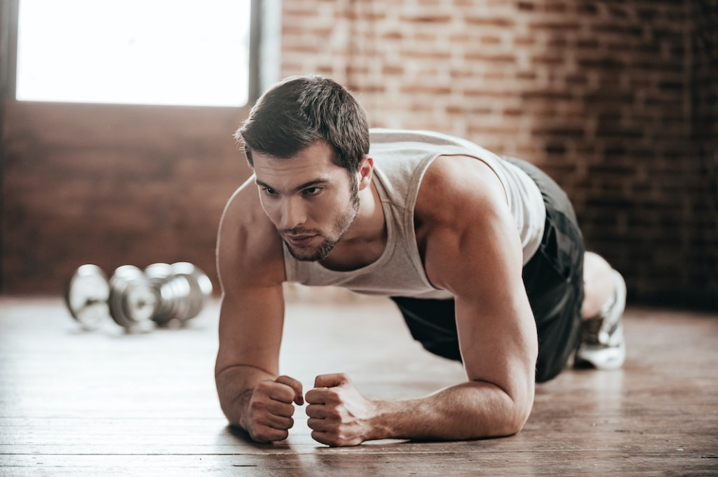 Plank workout core and abs exercise