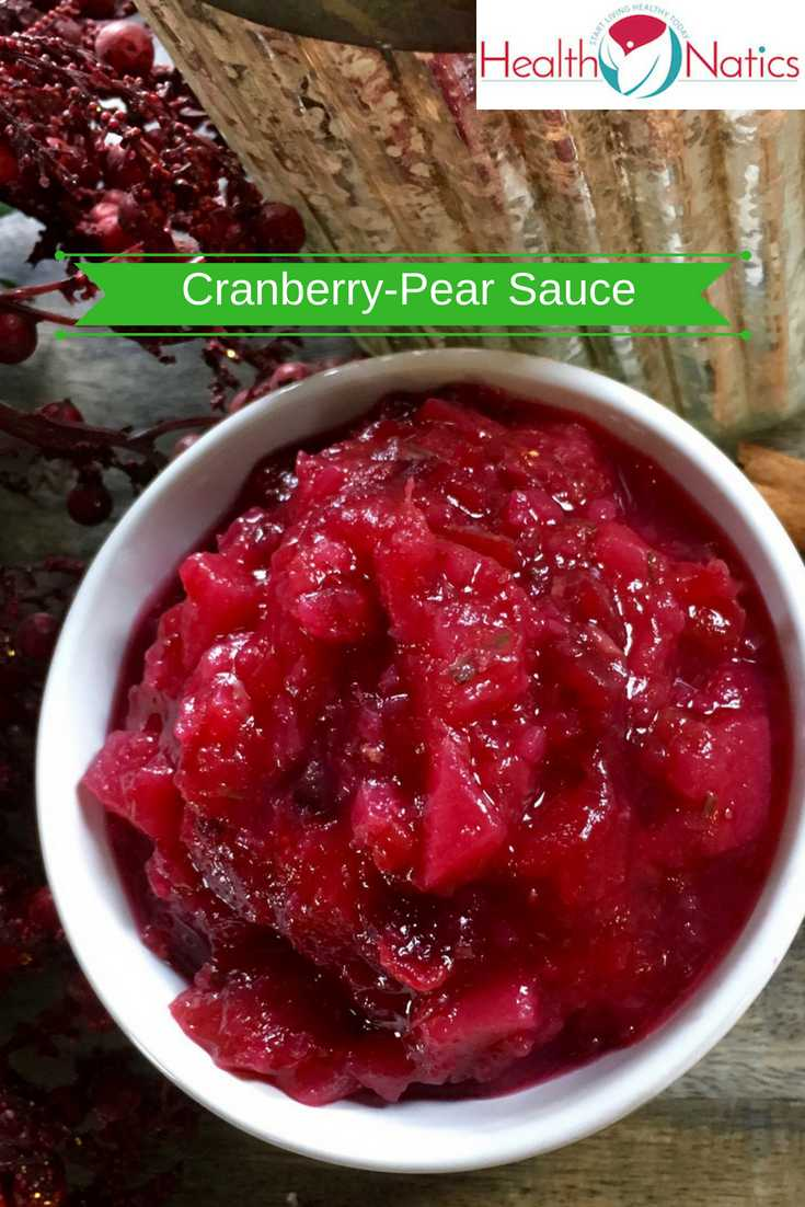 Cranberry-Pear Sauce with Rosemary and Ginger Recipe