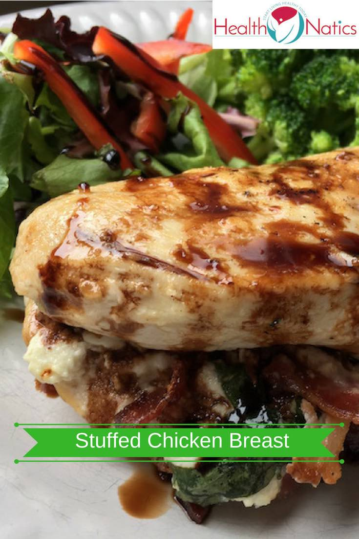 Bacon, Basil And Goat Cheese Stuffed Chicken Breast