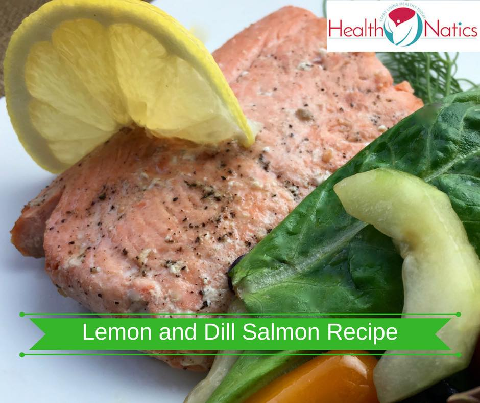 Lemon and Dill Salmon Recipe with Herb Salad