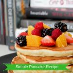 Simple Pancake Recipe and Easy Ingredients (PERFECTLY HEALTHY)