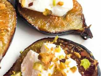 Honey-Roasted Figs with Labneh And Pistachios