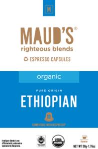 Organic Ethiopian Espresso capsules, 20ct.-160ct.