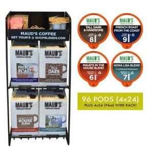 Gourmet Coffee Variety & Rack - 96ct.