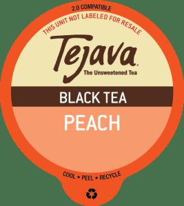 Tejava Peach Black Tea Pods