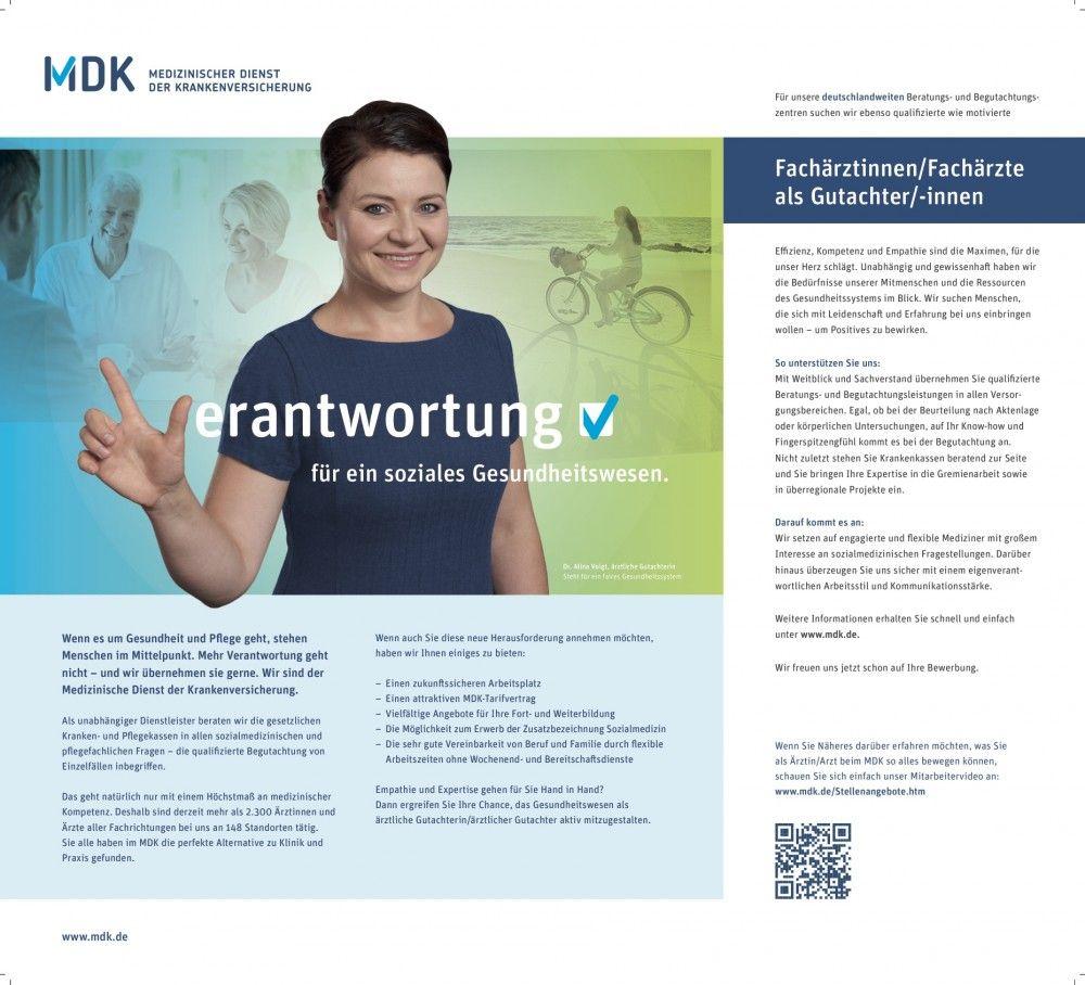 """BIG COMBI: """"Verantwortung"""", von MDK Medizinischer Dienst der Krankenversicherung Niedersachsen/Westpress Agentur für Personalmarketing"""