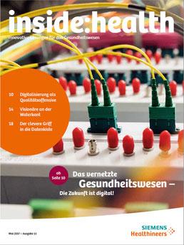 Die aktuelle Ausgabe von inside:health, dem Kundenmagazin von Siemens Healthineers