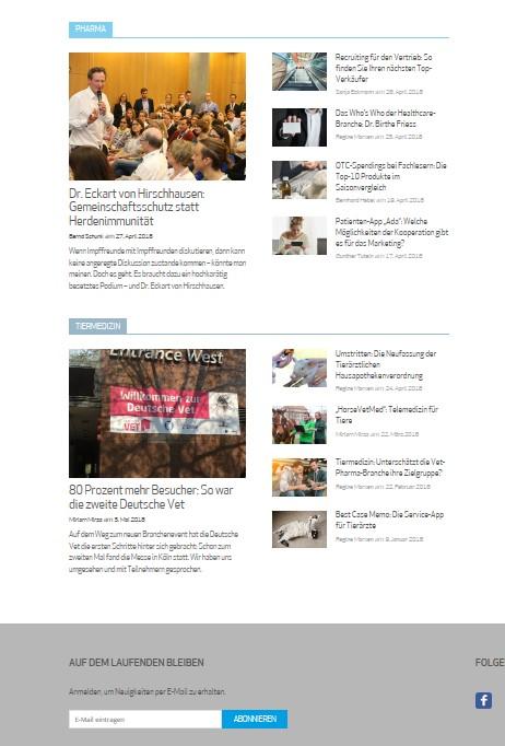 Screenshot Website Health Relations 2