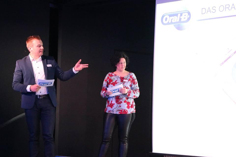 Manuela Mahlberg und Stefan Voegeding beim Launch-Event von Oral-B