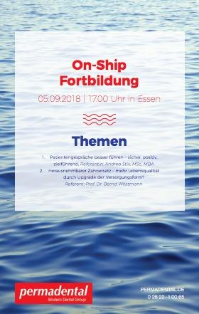 Fortbildung für Zahnärzte: Die On-Ship Fortbildung von Permadental