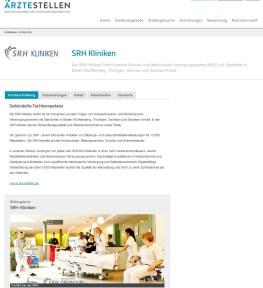 Eine Case Study für ein Employer Branding Profil auf aerztestellen.de