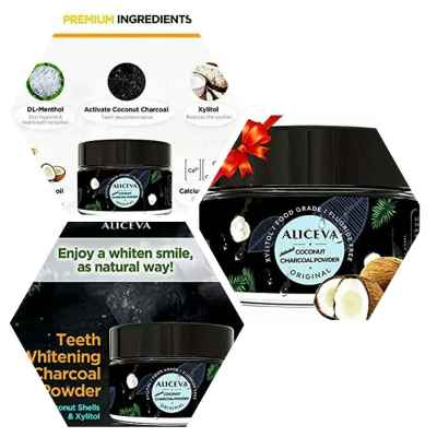 Teeth Whitening Activated Charcoal Powder with Xylitol