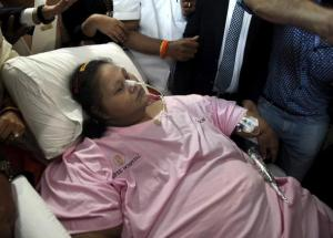 World's fattest woman is 300kgs lighter thanks to Indian hospital