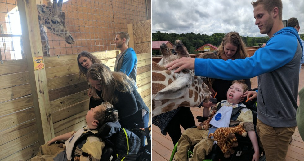 April the Giraffe Meets Troubled Boy
