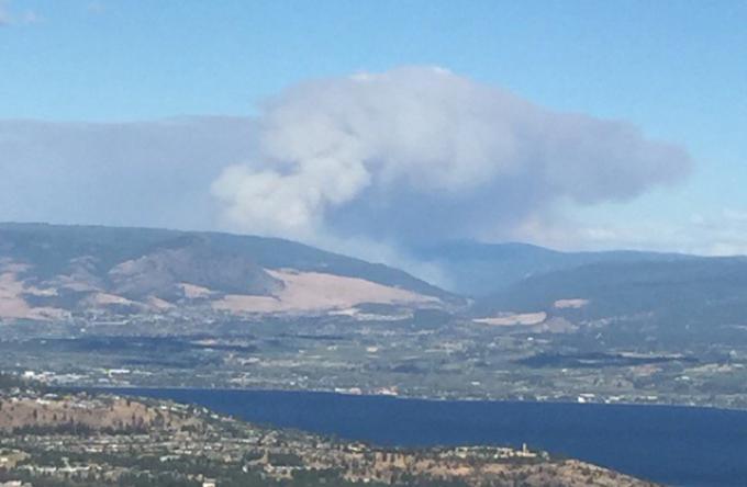 East of Kelowna People Endangered Because Of Wildfire