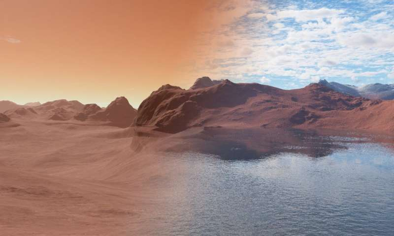 The Water on Mars Was Absorbed Like a Sponge