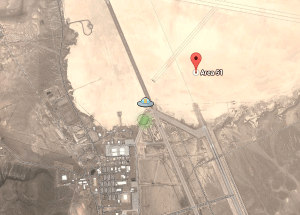 A Suspicious Object was Spotted Outside a Military Base near Area 51 on Google Maps