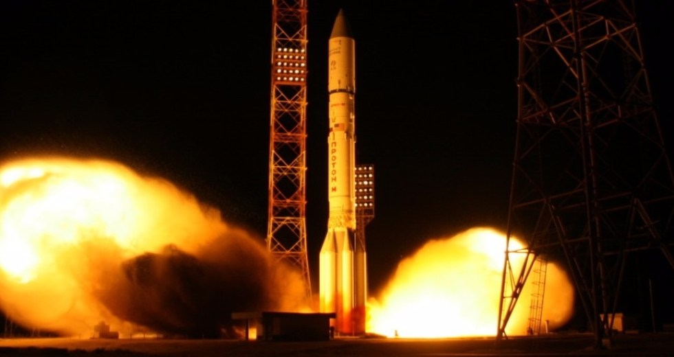 A Proton-M Rocket Deployed A Russian Military Satellite, The Blagovest No. 12L, On Wednesday