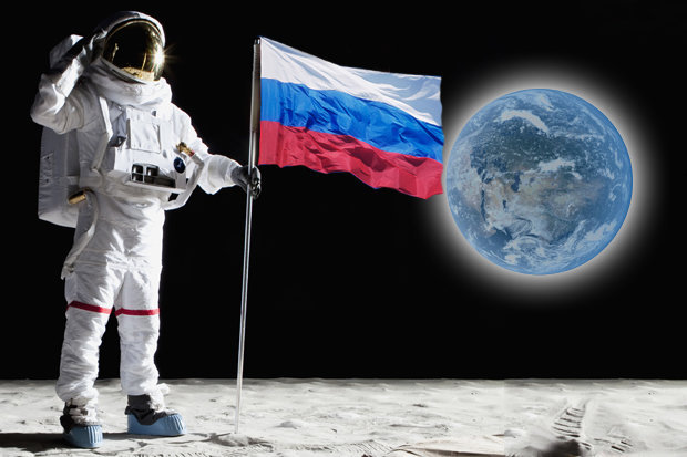 Image result for russian on the moon