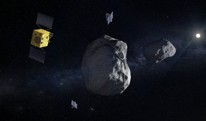 ESA's Hera Mission To Study The Didymos Binary Asteroid System Expected To Launch In 2020