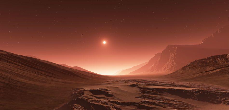 An Odd Never-Seen-Before Cloud is Present Over Mars