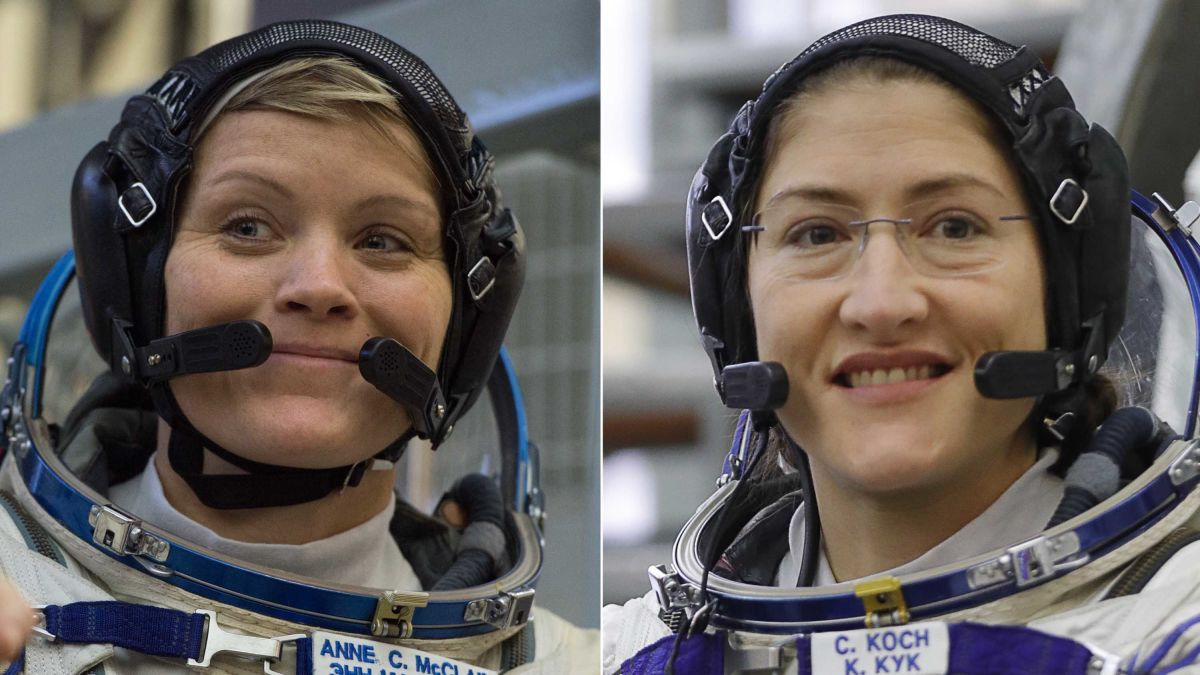 The first female duo is set to walk in space, says Nasa