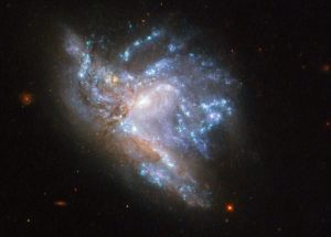 Hubble Space Telescope Captures Photos of a Stunning Galactic Collision