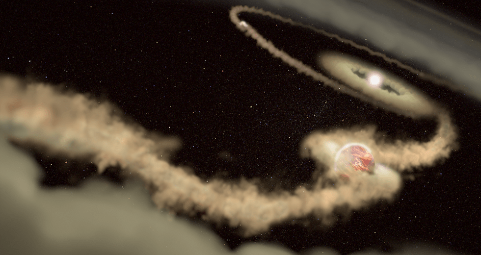 Baby Exoplanets Found Pinching Gas from Their Host Star