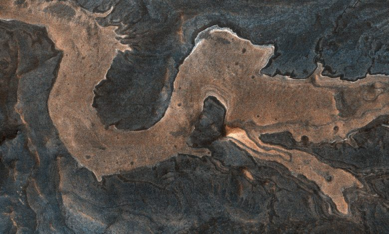 Dragon on Mars Identified By The MRO