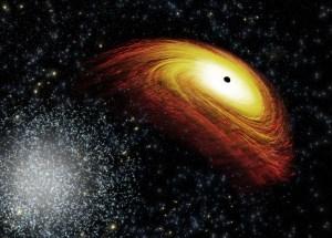 Supermassive Black Hole Whirls Around A More Massive Black Hole