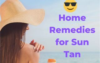 how to remove tan from face