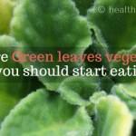 rare green leaves vegetables you should start eating