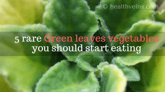5 Rare green leaves vegetables you should start eating