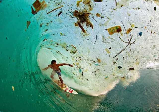 Surfing in Trash