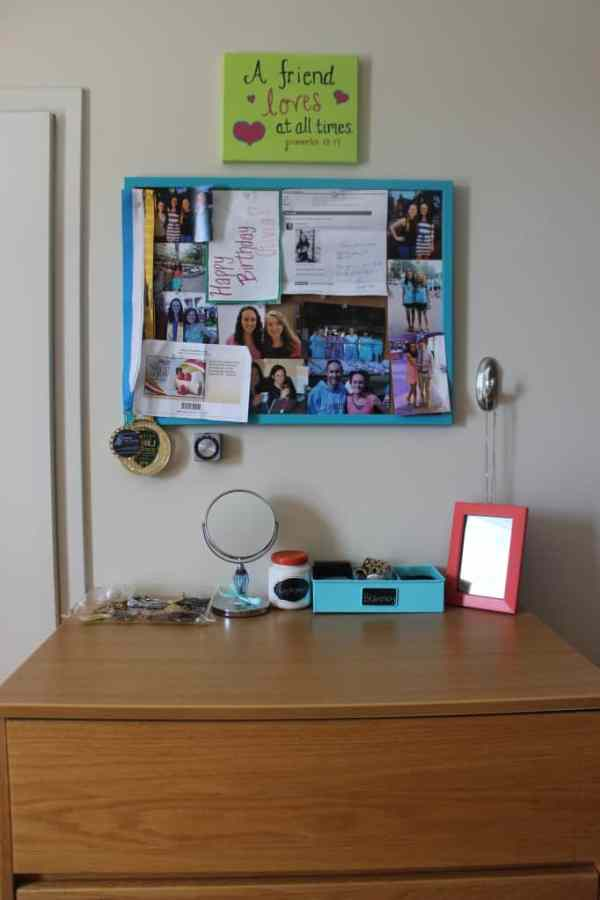 dorm room bulletin board turquoise coral