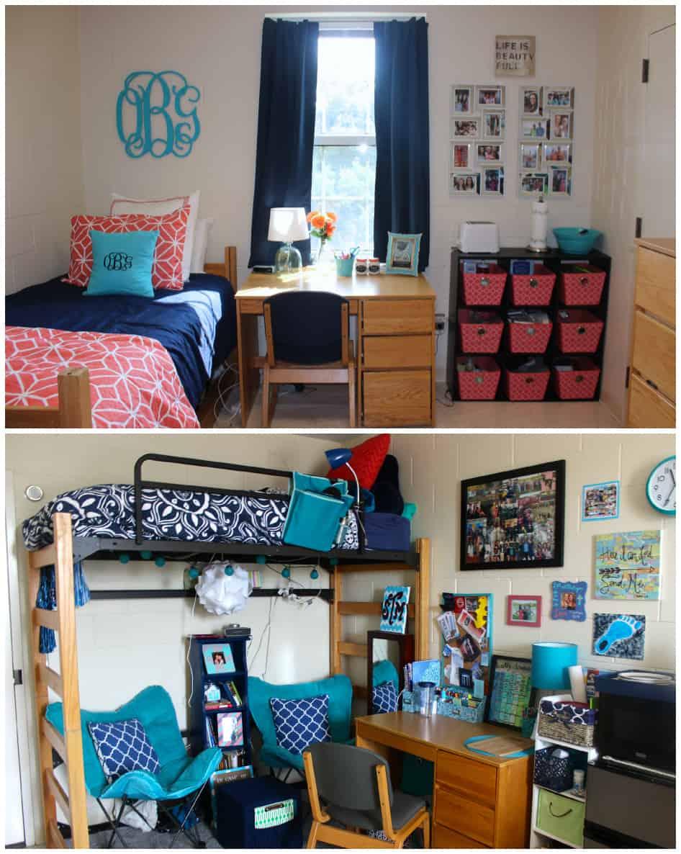 Dorm Room Tour  Healthy Liv ~ 054541_Aqua Dorm Room Ideas