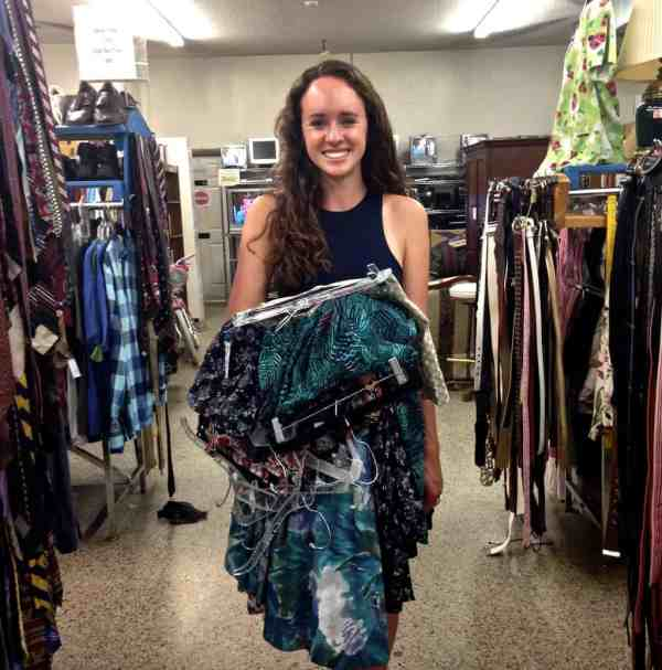 first time thrift shopping