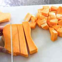 How to Peel, Chop, & Roast A Butternut Squash