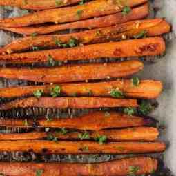 Addictive Balsamic Roasted Carrots