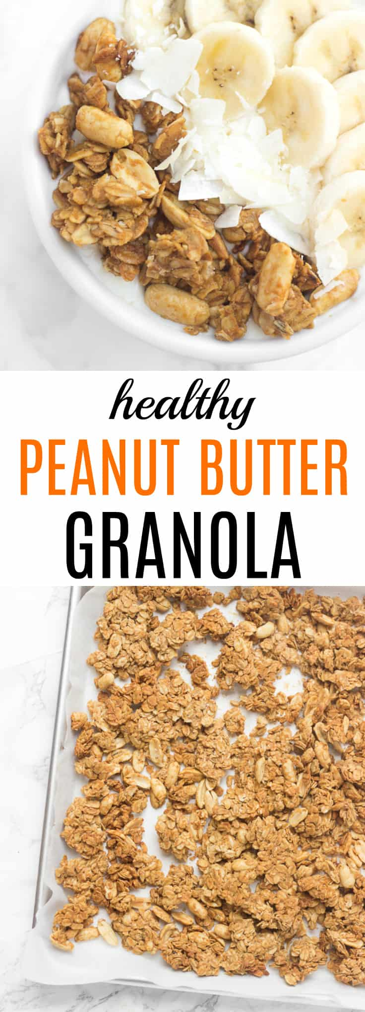 The BEST healthy peanut butter granola- my family LOVES this stuff!